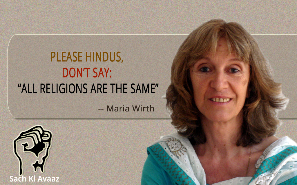 hindu don't say all religions are same