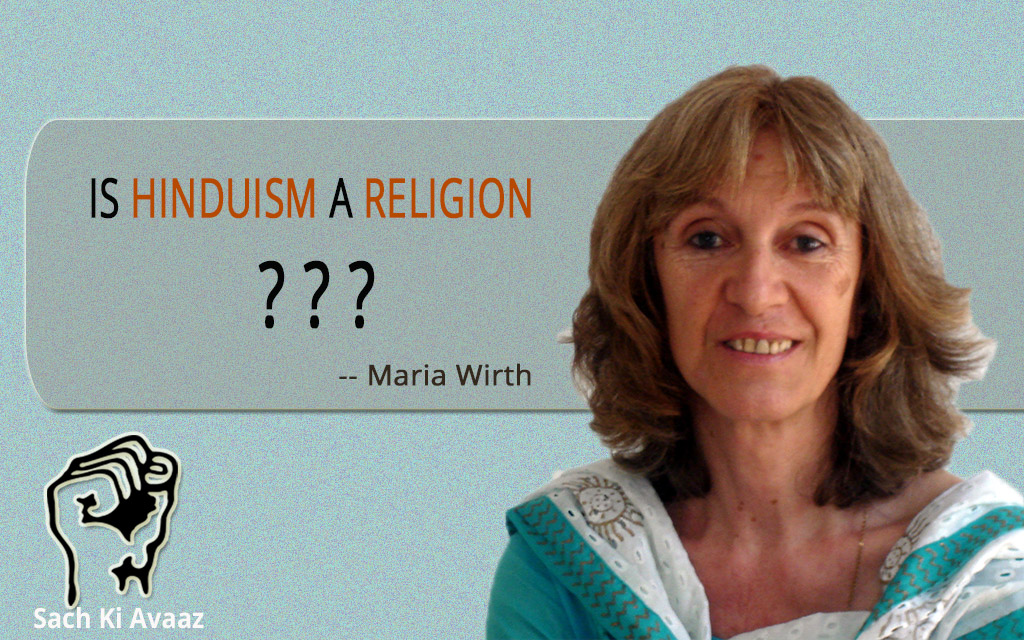 is hinduism a religion maria wirth